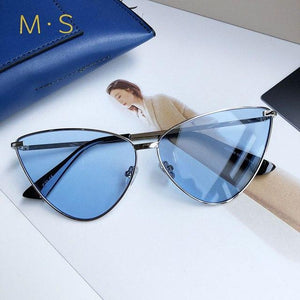MS Women Sunglasses 2018 Luxury Decoration Classic Eyewear Female Sunglasses Original Brandmodkily-modkily