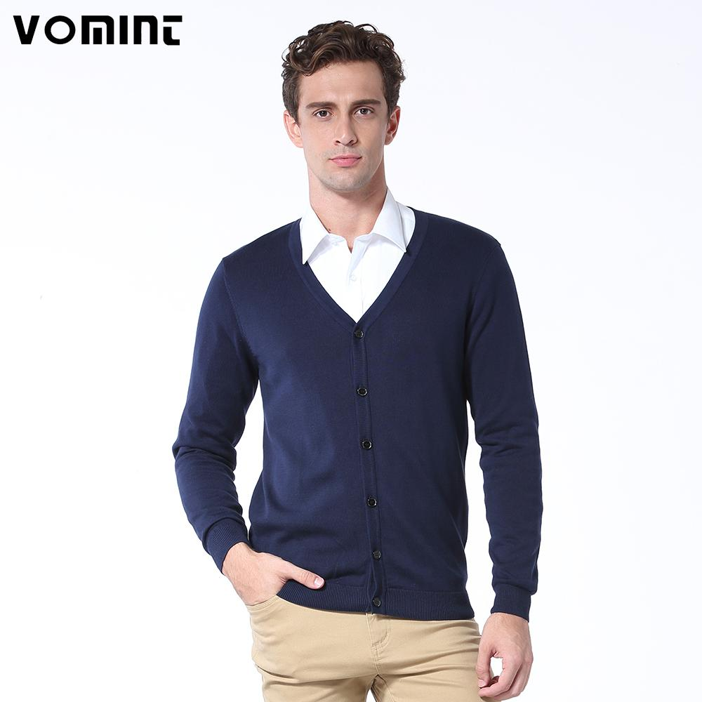 Vomint Spring Basic Mens Cardigans Sweater Solid O-neck Knitted Cotton Fabric Allmodkily-modkily