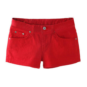 SYB 2018 NEW Summer Denim Shorts Slim Fit Candy Color Short Pantsmodkily-modkily