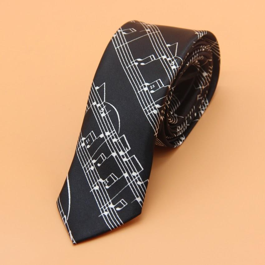 5cm Personality Mens Ties Fashion Piano Music Neckties Plaid Slim Tie Businessmodkily-modkily