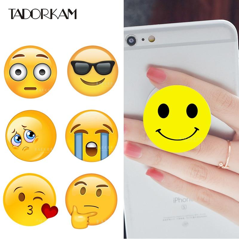 Kawaii Emoji phone stand Interesting Phone Holders flexible phone Anti-fall stand supportmodkily-modkily