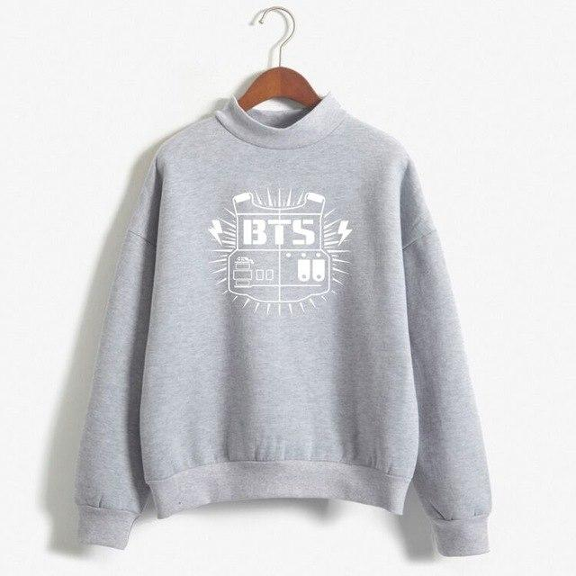 2018 BTS Hoodies Moletom BT21 Hoodie Sweatshirt Women Harajuku Long Sleeved Pullovermodkily-modkily