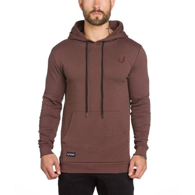 Fashion Men Gyms Solid Colors Hoodies 2017 Autumn Winter Casual Fitness Streetwearmodkily-modkily
