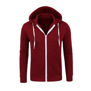 2018 Spring Hoodies Men Solid Zipper Cardigan Sweatshirts Slim Fit Sportswearmodkily-modkily
