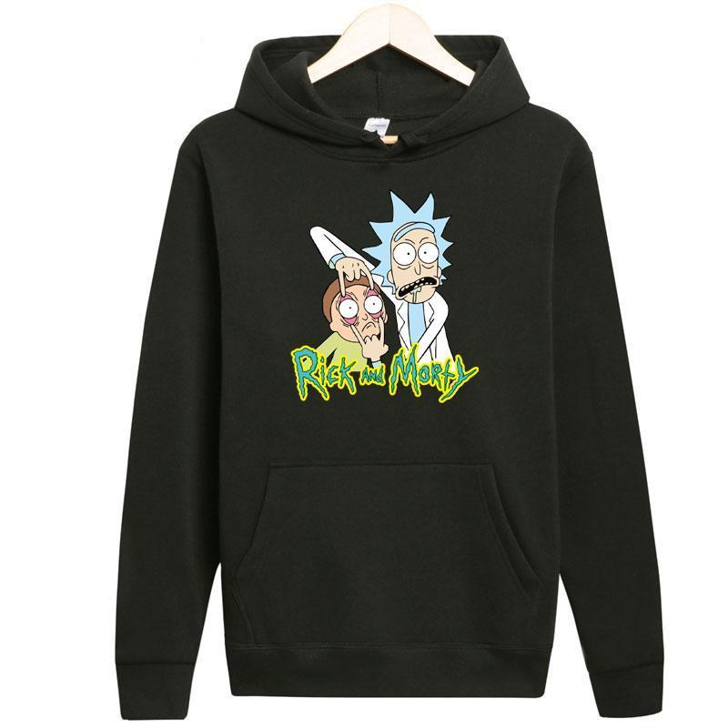 Fashion New Arrival Rick Morty Men Hoodies Anime Peace Among Worlds Folkmodkily-modkily