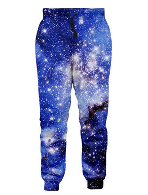Alisister 2018 New Fashion For Men/Women Baggy Jogger Pants 3D Print Galaxymodkily-modkily
