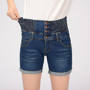 Fashion Women High Waist Denim Jeans Shorts Summer Loose Thin Elastic Waistmodkily-modkily