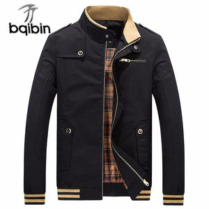 Dropshipping 2018 Autumn Brand Jacket Men Fashion Male Chaqueta Hombre Solid Standmodkily-modkily