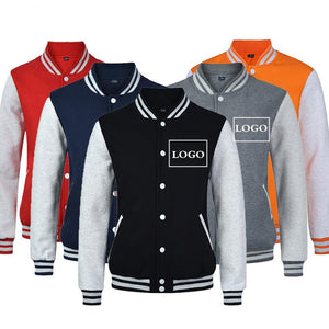 New Fashion Men/Boy Baseball Jacket LOGO DIY Customized Design Sweatshirt Sportswear Clothesmodkily-modkily