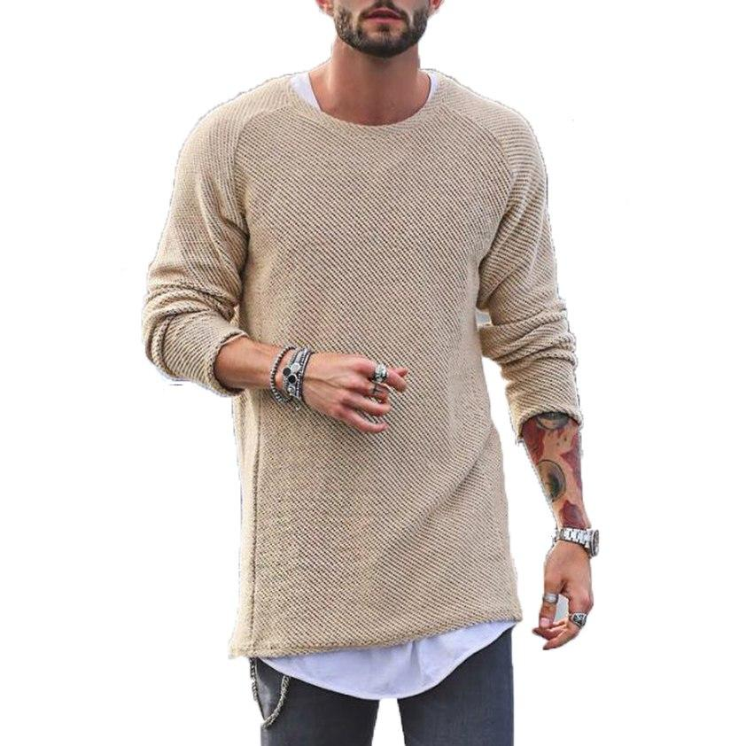 Winter Sweater Men Autumn New pullover Slim Fit Solid Thin Mens Knittedmodkily-modkily