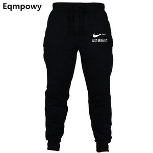 New Jogger JUST BREAK IT Pants Men Fitness Bodybuilding Gyms Pants Formodkily-modkily