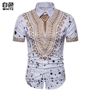 3D Print Shirt Men 2017 Traditional African Dashiki Men Shirt Long Sleevemodkily-modkily