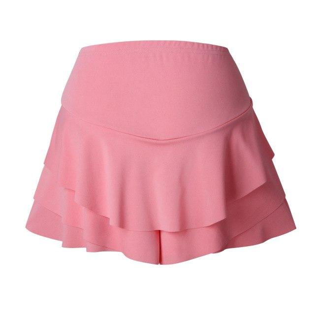 2018 High Waist Skirt Shorts Women Solid Red Black Ruffles Casual Shortsmodkily-modkily
