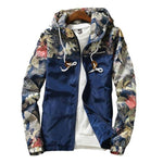 Floral Printed Jacket Mens Hip Hop Slim Fit Flowers Male Bomber Jacketmodkily-modkily