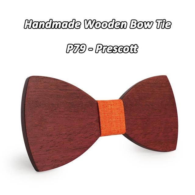 Mahoosive newest personality pure handmade natural wooden leisure men wood bow tiesmodkily-modkily