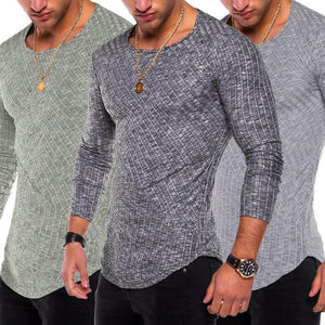2018 New Men's Shirts Fashion Mens Casual Long Sleeve Shirts Formal Slimmodkily-modkily