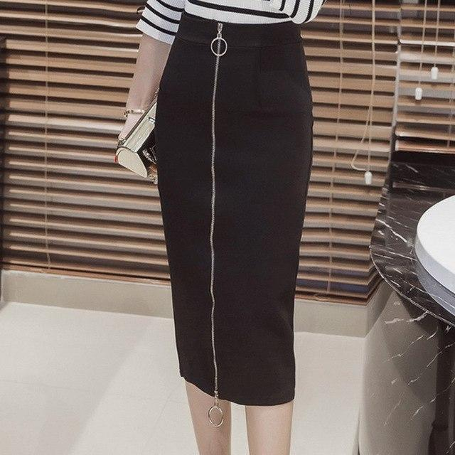 5XL Plus Size Women Pencil Skirts Autumn 2018 Elegant High Waist Bodyconmodkily-modkily