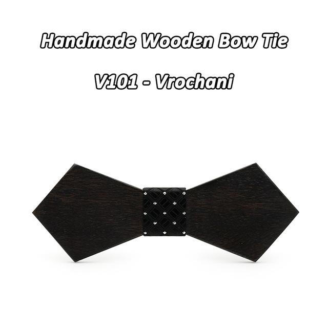 Mahoosive Solid wooden Necktie Mens Wedding Suits Wooden Bow Tiemodkily-modkily