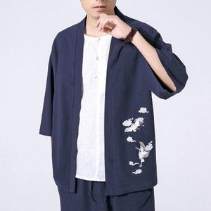 Cotton Linen Men Shirt New 2018 Harajuku Patchwork Mens Shirts Fit Long-Sleevemodkily-modkily