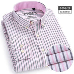 men's shirts tops men plaid & striped Shirt Oxford casual men's shirtsmodkily-modkily
