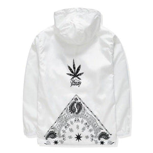 Mens Windproof Cannabi-s Print Jacket Lovers Hooded Jackets Men's Oversize Windbreaker Malemodkily-modkily