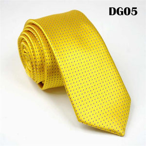 SCST Brand New Classic Dot Print Yellow Gold Solid Silk Ties Formodkily-modkily