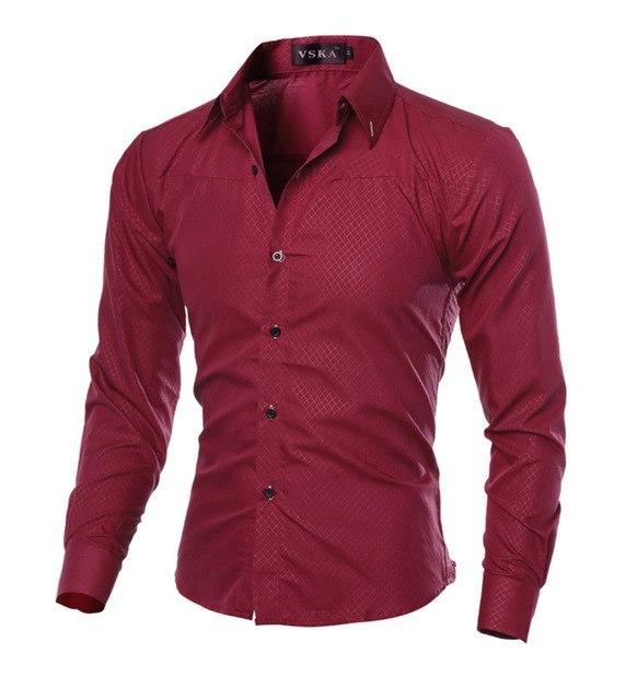 Plaid Men Shirt 2018 New Arrival Male Solid Color Mandarin Collarmodkily-modkily