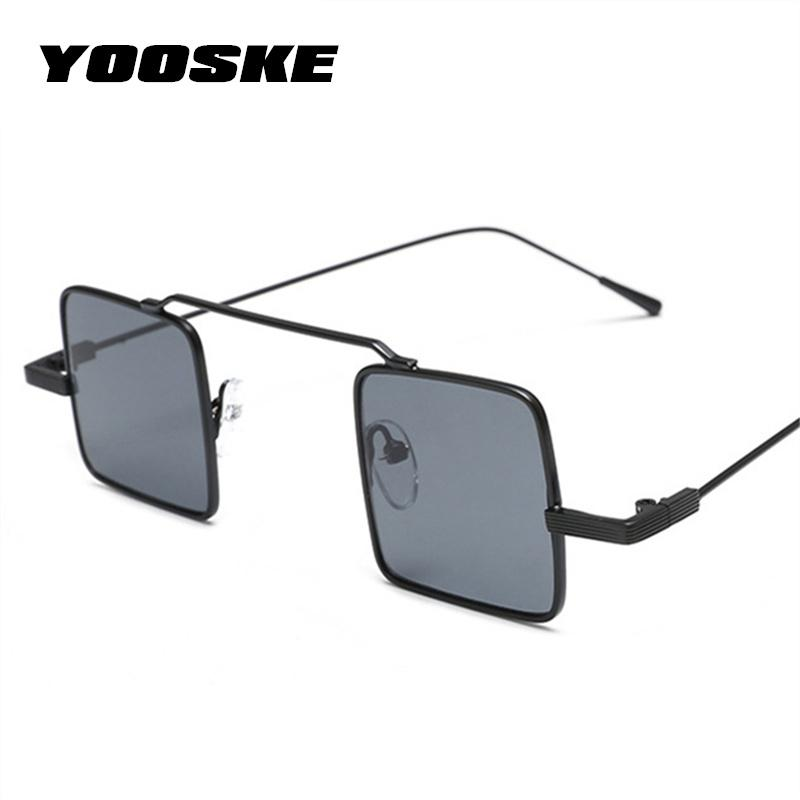 YOOSKE Small Sunglasses Women Men Vintage Brand Designer Metal Frame Sun Glassesmodkily-modkily