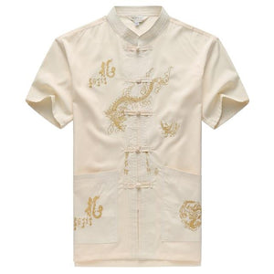 Loldeal Men New Arrival Shirt Chinese Tradition Style Dragon Pattern Kung Fumodkily-modkily