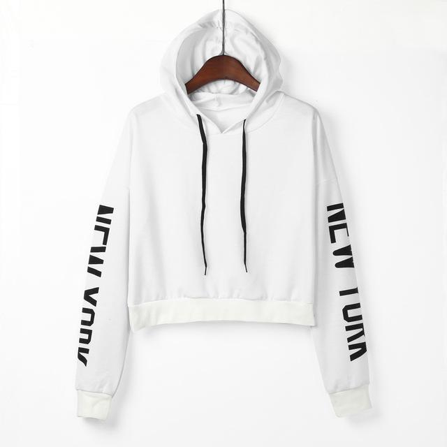 Womens Letters Long Sleeve Hoodie Sweatshirt Pullover Tops Casual Sweatshirts Polyestermodkily-modkily
