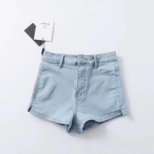 Women Sexy High Waist Split Hem Denim Shortsmodkily-modkily