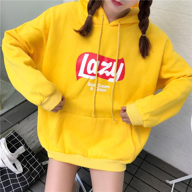 Kpop home New Fashion harajuku style lazy offbeat around Blouse sweatshirt woman'smodkily-modkily