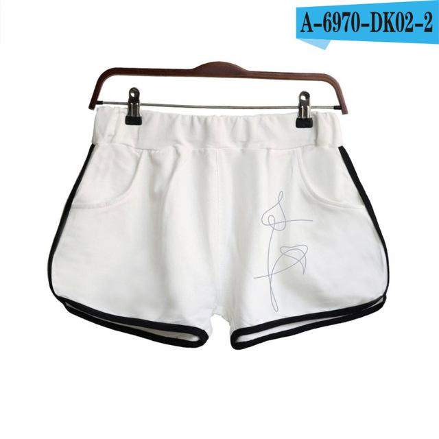 LOVE YOURSELF Kpop Shorts Women Casual Cotton Short Pant Femme Contrastmodkily-modkily