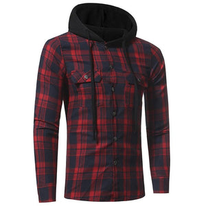 2018 Plaid Shirt Spring Shirts Men Casual Brand Clothing Men Shirt Longmodkily-modkily