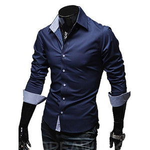 Mens Casual Shirts 2018 Hot Sale Mens Slim Fit Dress Long Sleevemodkily-modkily