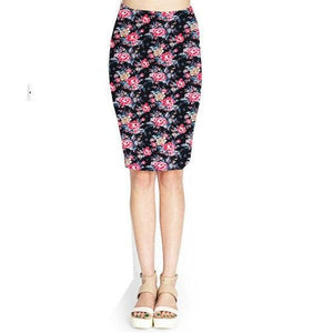 Summer Camouflage Skirts High Waist Skinny Plaids Flower Print Long Pencil Skirtmodkily-modkily