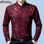 2018 male fashion brand casual business slim fit men shirt camisa longmodkily-modkily