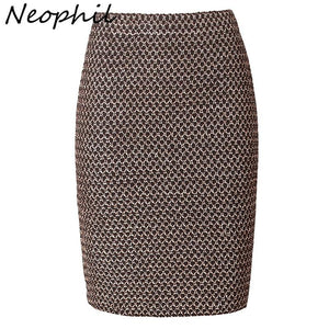 Neophil 2018 Luxy Vintage Gold Metal Ladies Bandage Sexy Office Pencil Minimodkily-modkily