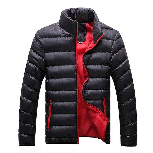 Winter Jacket Men 2018 Fashion Stand Collar Male Parka Jacket Mens Solidmodkily-modkily