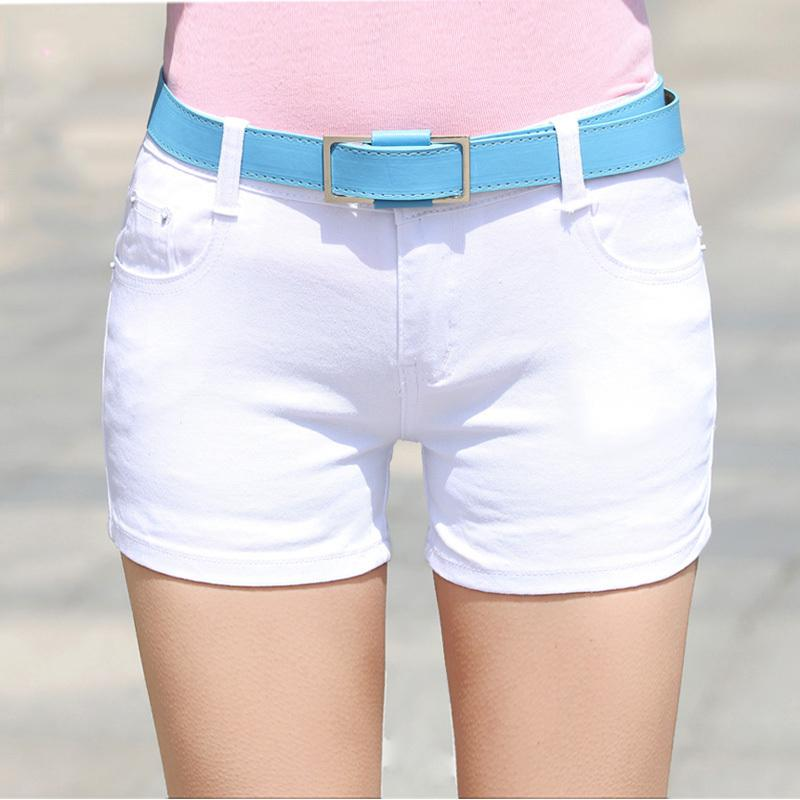 2018 Summer Denim Shorts cotton Slim Fit ladyies elastic waist sexy femalemodkily-modkily