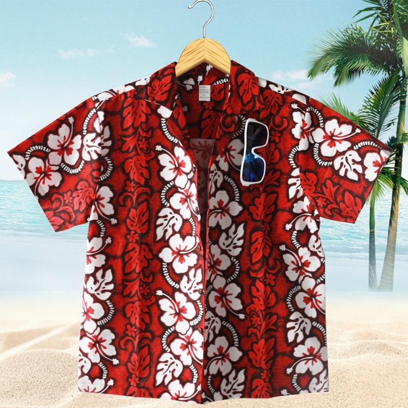 2018 New Summer Style Handsome Loose Men Floral Shirt Casual Holiday Beachmodkily-modkily