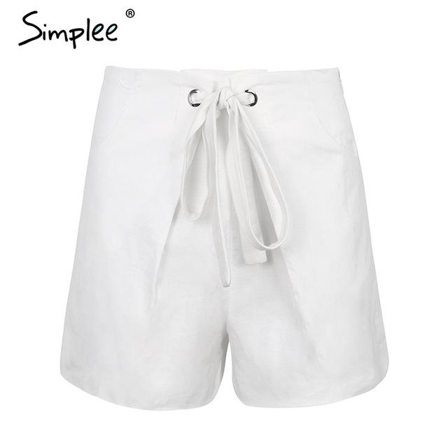 Simplee Tie up zipper plaid shorts women bottom Ring streetwear summer shortsmodkily-modkily