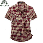 Brand Clothing Plaid Shirt Men Summer Casual Short Sleeve Turn-downmodkily-modkily