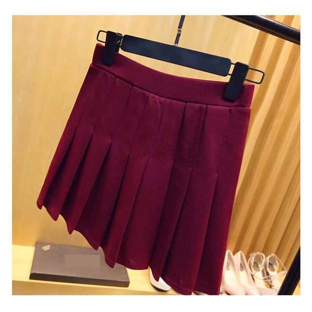2018 High Waist Elastic Mini Linen Women Skirts A-Line Pleated Skirt Plusmodkily-modkily