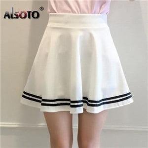 Summer style skirts womens black high waist sexy skater vintage mini Schoolmodkily-modkily