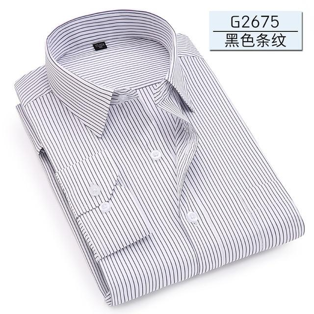 Men Long Sleeve Shirt 2018 Spring New Brand Solid Color Business Officemodkily-modkily