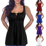 Women Tunic Tops 2018 Summer Sexy V-neck Sleeveless Spaghetti Strap Shirtsmodkily-modkily