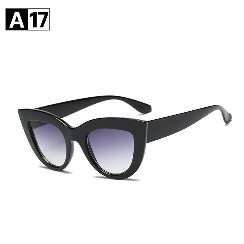 [] Brand 2018 Women Cat Eye Sunglasses Women Brand Designer Cateye Sunmodkily-modkily