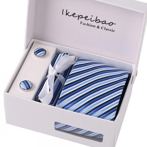 Latest Men's Ties Dots Fancy Necktie Hanky Sets Polyester Jacquard Wovenmodkily-modkily