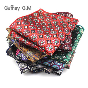 Men Handkerchief Polyester Woven Plaid Floral Pattern Hanky Business Casual Pocket Squaremodkily-modkily